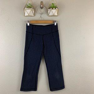 Lululemon Capri Pants Size 4 Striped Cropped